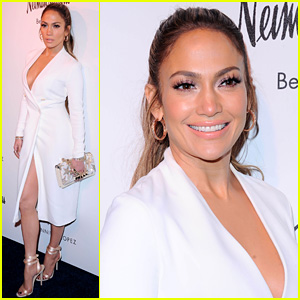 Jennifer Lopez Looks White Hot While Launching Her Shoe Line!