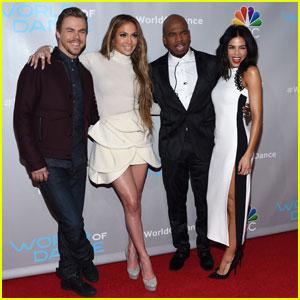 Jennifer Lopez & Derek Hough Promote 'World of Dance'