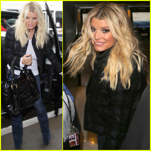 Jessica Simpson Has A Hot Chocolate Date With Maxwell & Ace