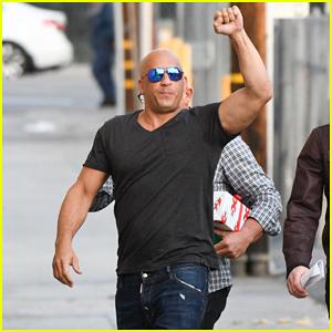 VIDEO: Jimmy Kimmel Gifts Vin Diesel A Giant Gummy Vin Diesel!