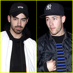 Nick & Joe Jonas Go Low Key for Their Brothers' Night Out