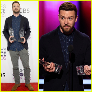 Justin Timberlake Wins Big at People's Choice 2017!