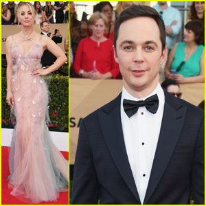 VIDEO: Kaley Cuoco is Not Too Pleased With Jim Parsons at SAG Awards 2017