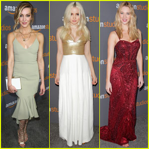 Katie Cassidy & Dove Cameron Party With Amazon After Golden Globes 2017