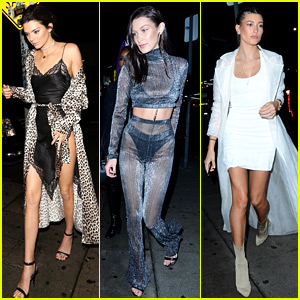 Kendall Jenner, Bella Hadid, & Hailey Baldwin Celebrate New Year's Eve Together!