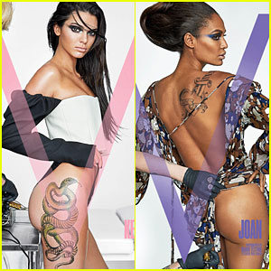 Kendall Jenner & Joan Smalls Show Sexy New Ink for 'V'