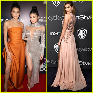Kendall & Kylie Jenner Show Off A Lot of Leg at Golden Globes 2017 After Party!