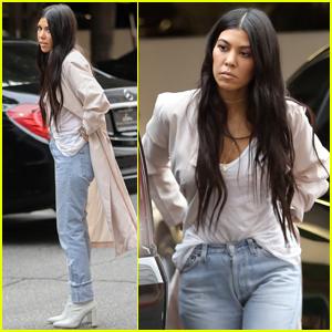 Kourtney Kardashian Gets Back to Business After Aspen Trip