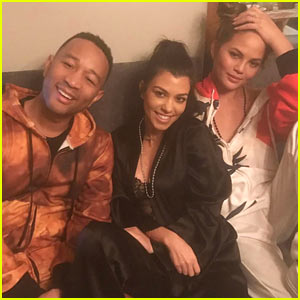 John Legend & Chrissy Teigen Join Kourtney Kardashian at Pajama Party!