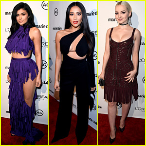 Kylie Jenner, Shay Mitchell, & Dove Cameron Step Out for Marie Claire's Image Maker Awards!