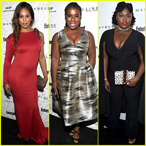 OITNB's Laverne Cox, Uzo Aduba, & Danielle Brooks Get Glam for EW's SAG Party