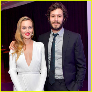 Leighton Meester & Husband Adam Brody Couple Up at Golden Globes After Party!