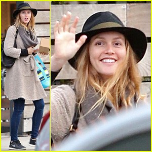 Leighton Meester Is in Great Spirits During Latest Sighting