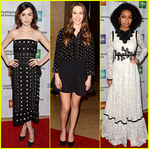 Lily Collins, Taissa Farmiga, & Yara Shahidi Get Glam for Artios Awards 2017