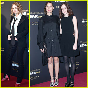 Lily-Rose Depp & Marion Cotillard Attend Cesar Awards Revelations Dinner