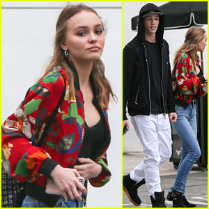 Lily-Rose Depp & Boyfriend Ash Stymest Go Shopping in Beverly Hills