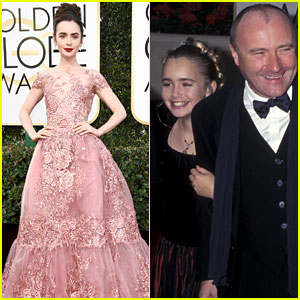 Lily Collins at Her Very First Golden Globe Ceremony