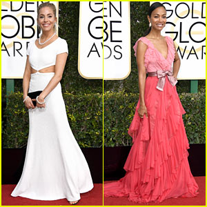 'Live by Night' Co-Stars Sienna Miller & Zoe Saldana Are Glowing at Golden Globes!