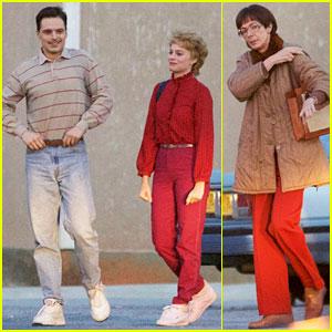 Margot Robbie Films 'I, Tonya' with Her Co-Stars