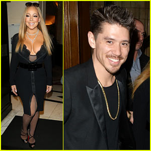 Mariah Carey & Bryan Tanaka Dress Up for Wedding Reception