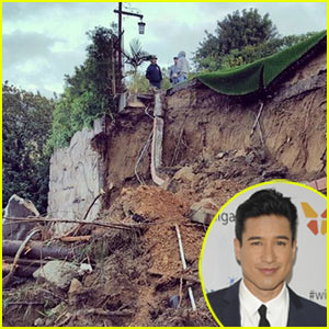 Mario Lopez's Backyard Destroyed After L.A. Rainstorms