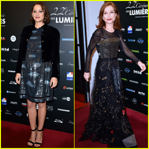 Marion Cotillard & Isabelle Huppert Step Out at the Lumieres Awards