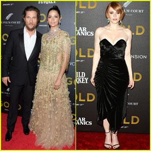 Matthew McConaughey & Camila Alves Shine at 'Gold' Premiere
