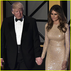 Melania Trump Wears Form-Fitting Gown to Pre-Inauguration Dinner