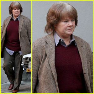 Melissa McCarthy Sports Gray Wig For 'Can You Ever Forgive Me?' Filming