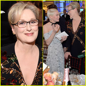 Meryl Streep Mingles at Golden Globes 2017 Before Cecil B. DeMille Award!