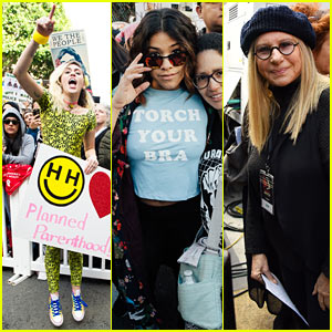 Miley Cyrus, Gina Rodriguez, & Barbra Streisand Stand Together at Women's March