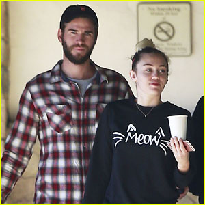 Liam Hemsworth & Miley Cyrus Get In Some Quality Time!