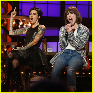 VIDEO: Milla Jovovich Teases Her Lip Sync Battle Against Ruby Rose