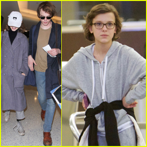 Millie Bobby Brown & 'Stranger Things' Cast Jet to Atlanta After Golden Globes