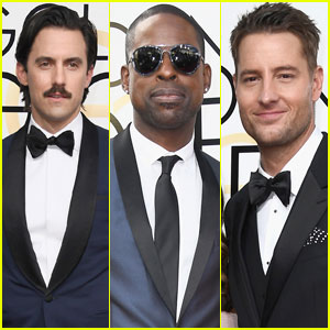 Milo Ventimiglia & Sterling K. Brown Rep 'This Is Us' at Golden Globes 2017 With Justin Hartley