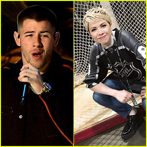 Carly Rae Jepsen Debuts New Look at NHL Game Performance with Nick Jonas!