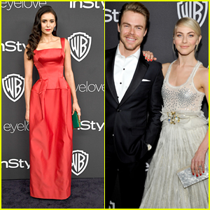 Julianne Hough Reunites with BFF Nina Dobrev For InStyle's Golden Globe Party