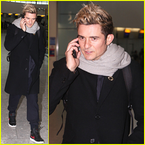 Orlando Bloom Jets To London For BBC 'The One Show' Appearance!