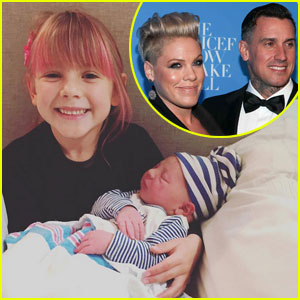 Pink Shares Adorable Photo of Newborn Son Jameson with Daughter Willow