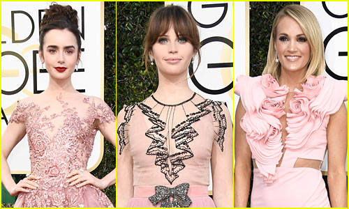 Prettiest in Pink at Golden Globes 2017 - See Who Wore it Best