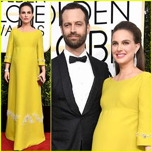 Pregnant Natalie Portman Brings Husband Benjamin Millepied to Golden Globes 2017!
