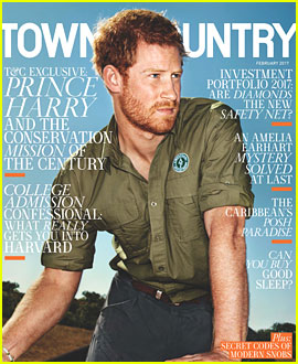 Prince Harry Gets Rugged on 'Town & Country' Cover