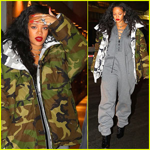 Rihanna Bundles Up For Night Out in in New York City