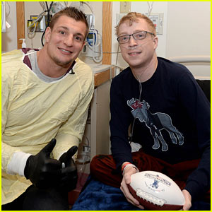 Rob Gronkowski Spends the Day Visiting Patients at Boston Children's Hospital