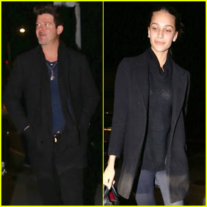 Robin Thicke Steps Out for Dinner with Girlfriend April Love Geary