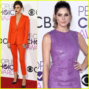 Ruby Rose & Ashley Greene Step Out at People's Choice 2017