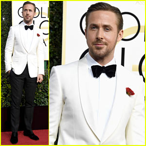 Ryan Gosling Arrives to the Golden Globes in Typical Ryan Gosling Fashion