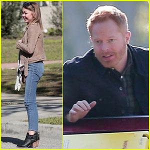 Sarah Hyland & Jesse Tyler Ferguson Film Hilarious 'Modern Family' Scene