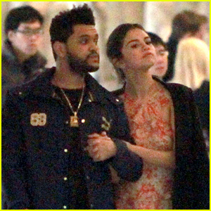 Selena Gomez Snuggles Up to The Weeknd at Museum in Italy!