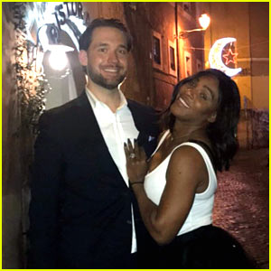 Serena Williams Cuddles Up with Fiance Alexis Ohanian - Check Out Her Ring!